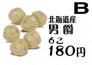 B 北海道産男爵 ...